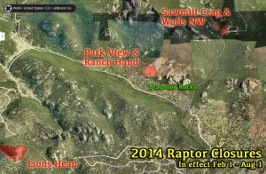 2014 Raptor Closures include: -Lions Head -Park View Dome -Ranch Hand Dome -Sawmill Crag